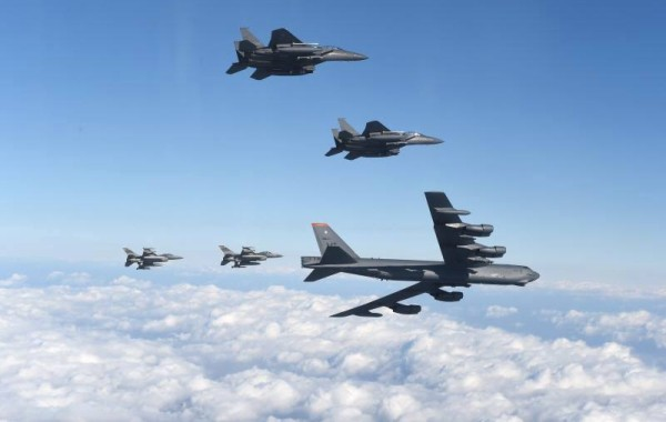 美國派遣B-52轟炸機進駐烏山基地
